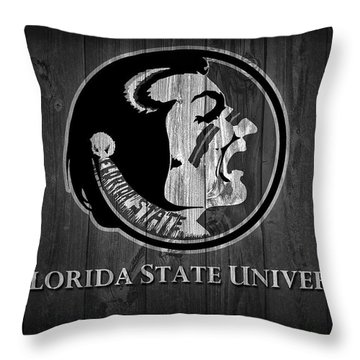 Florida State University Black And White Barn Door Throw Pillow