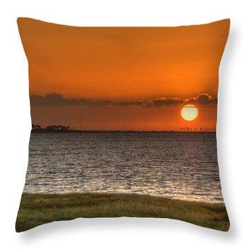 Florida Sunrise Throw Pillow by Jane Luxton