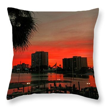 Throw Pillow featuring the photograph Florida Sunset by Hanny Heim