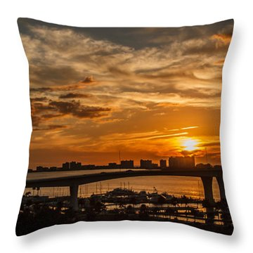 Throw Pillow featuring the photograph Florida Sunset by Jane Luxton