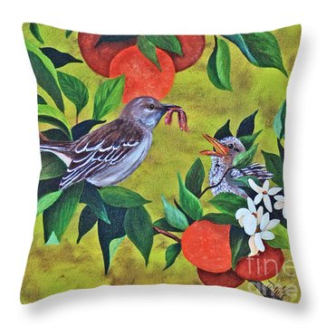 Florida Symbols Throw Pillow