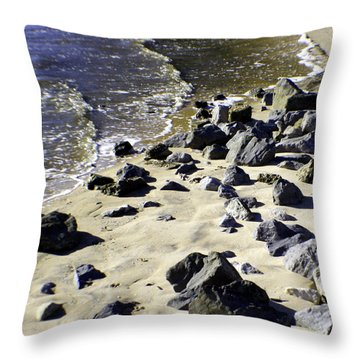 Florida Town Beach Throw Pillow