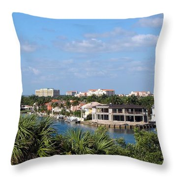 Florida Vacation Throw Pillow by MTBobbins Photography