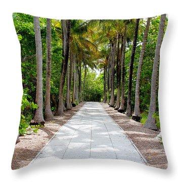 Florida Walkway Throw Pillow by Carey Chen