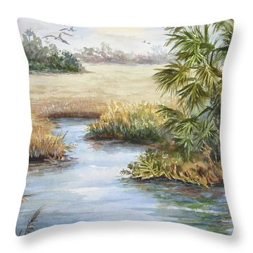 Florida Wilderness IIi Throw Pillow by Roxanne Tobaison
