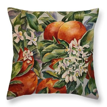 Florida's Gold Throw Pillow by Roxanne Tobaison