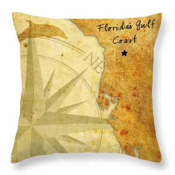 Florida's Gulf Coast Throw Pillow