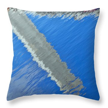 Floridian Abstract Throw Pillow by Keith Armstrong