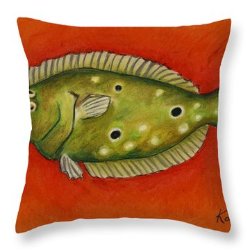 Flounder Throw Pillow