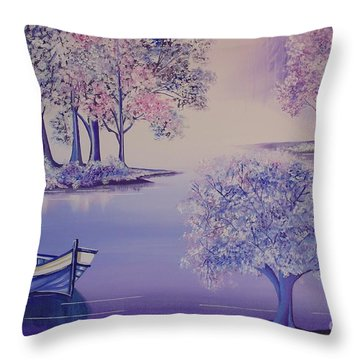 Flourish II Throw Pillow