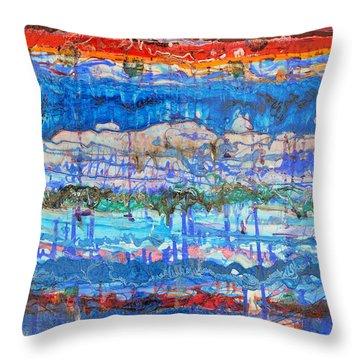 Flow Instability Throw Pillow by Regina Valluzzi