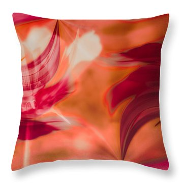 Flow Throw Pillow by Jacqui Boonstra