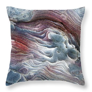 Flow Of Erosion Throw Pillow