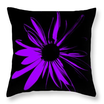 Throw Pillow featuring the digital art Flower 10 by Maggy Marsh