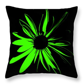 Throw Pillow featuring the digital art Flower 12 by Maggy Marsh
