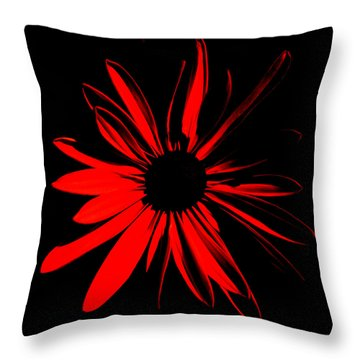 Throw Pillow featuring the digital art Flower 2 by Maggy Marsh