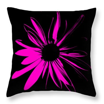 Throw Pillow featuring the digital art Flower 6 by Maggy Marsh