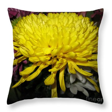 Yellow Queen. Beautiful Flowers Collection For Home Throw Pillow