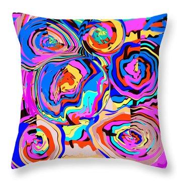 Abstract Art Painting #2 Throw Pillow by RjFxx at beautifullart com