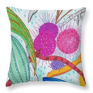 Flower Abstraction Throw Pillow