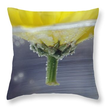 Flower Afloat Throw Pillow by Adria Trail