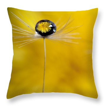 Flower And Seed Throw Pillow