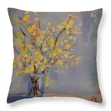 Flower Arrangement Exotic  Throw Pillow by Patricia Awapara