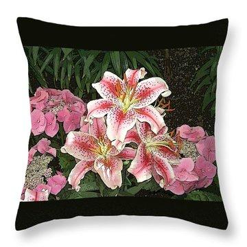 Flower Art01 Throw Pillow