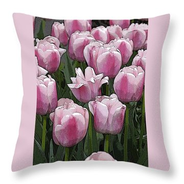 Flower Art06 Throw Pillow