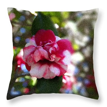 Flower Throw Pillow by Bill Howard