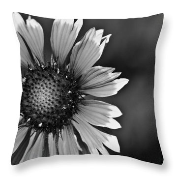 Flower Black And White #1 Throw Pillow