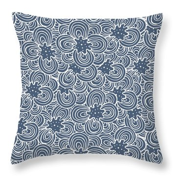 Flower Bundle Throw Pillow by Susan Claire
