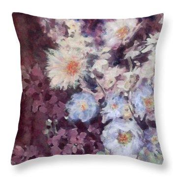 Flower  Burst Throw Pillow by Richard James Digance
