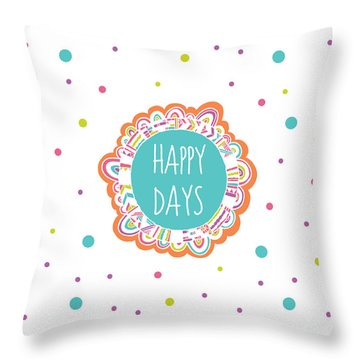 Flower Burst Throw Pillow by Susan Claire
