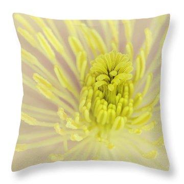 Flower Centre Throw Pillow by Svetlana Sewell