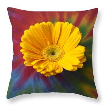 Flower Child Throw Pillow by Christi Kraft