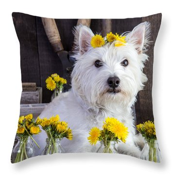 Flower Child Throw Pillow by Edward Fielding