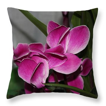 Flower Throw Pillow by Cyril Maza