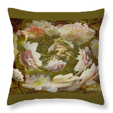 Throw Pillow featuring the photograph Flower Drift by Nareeta Martin