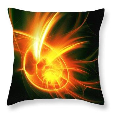 Flower Energy Throw Pillow by Anastasiya Malakhova