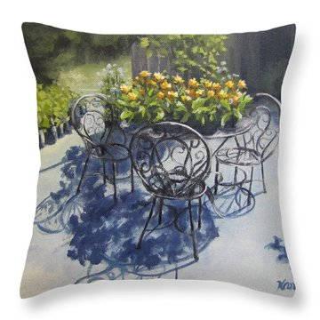 Flower Feast Throw Pillow by Karen Ilari