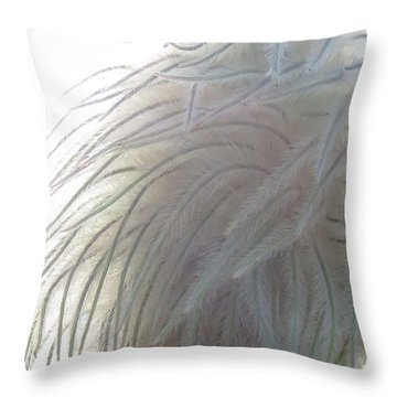 Throw Pillow featuring the photograph Floral Feathers by Ramona Johnston