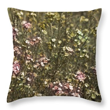 Flower Field Throw Pillow by Svetlana Sewell