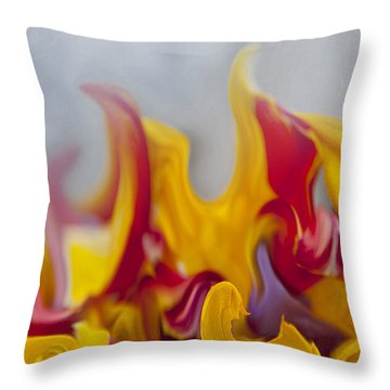 Flower Flames Throw Pillow by Svetlana Sewell