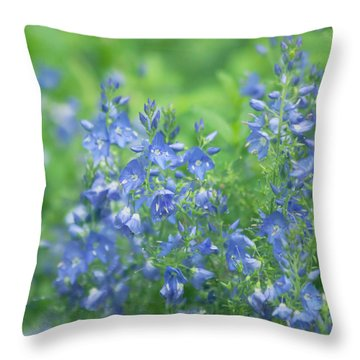 Flower Frenzy Throw Pillow by Kim Hojnacki