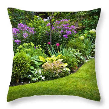 Flower Garden Throw Pillow by Elena Elisseeva