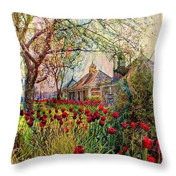 Flower Garden Series 02 Throw Pillow