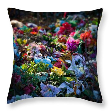Flower Graveyard Throw Pillow