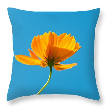 Flower - Growing Up In Brooklyn Throw Pillow by Mike Savad