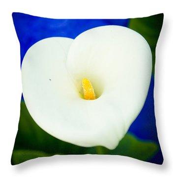 Flower Kalla Throw Pillow